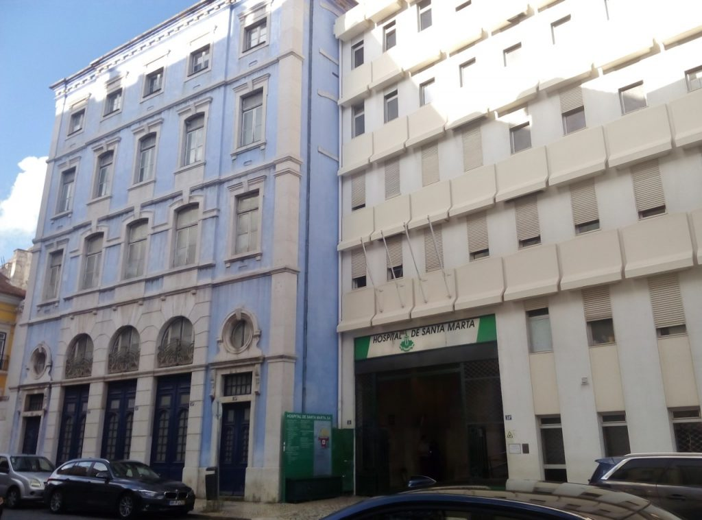 Szpital Santa Marta w Lizbonie. To właśnie tam przeprowadzono pierwszą leukotomię (RickMorais/CC BY-SA 4.0).