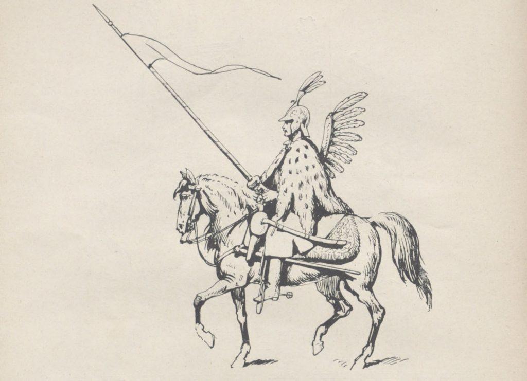 Towarzysz husarski według akwareli Jakuba de Gheyn z 1610 roku (domena publiczna).