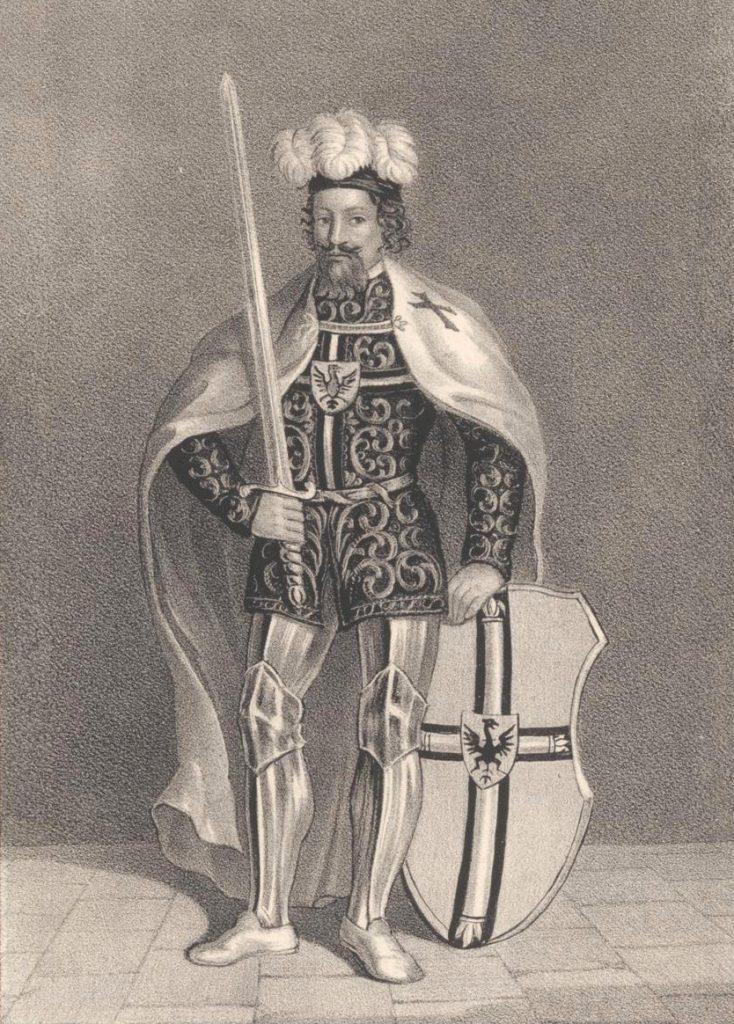 W Malborku Kazimierza podejmował ówczesny wielki mistrz Winrich von Kniprode (Heinrich Wilhelm Teichgräber/domena publiczna).