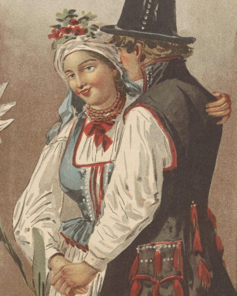 Na polskich wisach unikano ślubów szczególnie w maju, listopadzie oraz podczas Adwentu i Wielkiego Postu (domena publiczna).