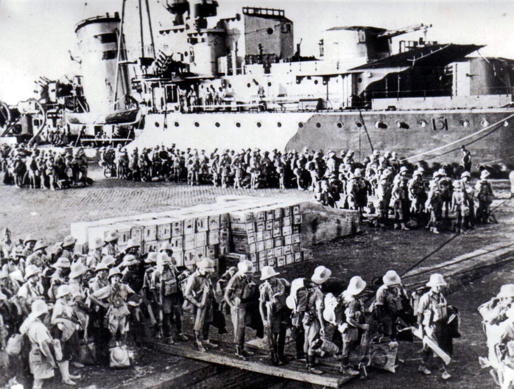 Żołnierze Samodzielnej Brygady Strzelców Karpackich w drodze do Tobruku (domena publiczna).