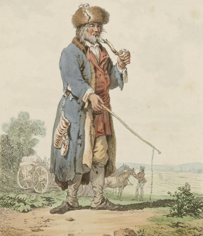 Żydowski furman z przełomu XVIII i XIX wieku (domena publiczna)
