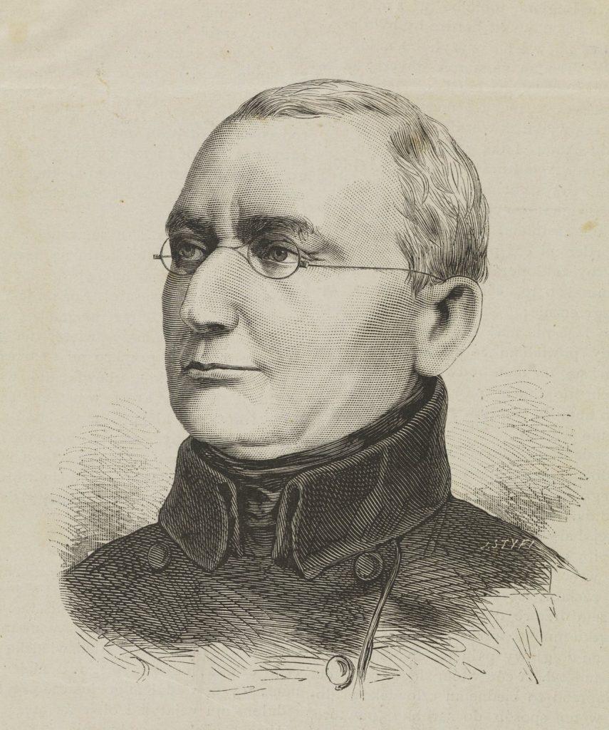 Andrzej Towiański na rysunku Jana Styfiego (domena publiczna).