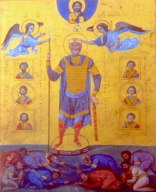Dzięki podbojom Bazylego II Bizancjum było w stanie wystawić armię liczącą nawet ponad 250 tysięcy żołnierzy (domena publiczna).