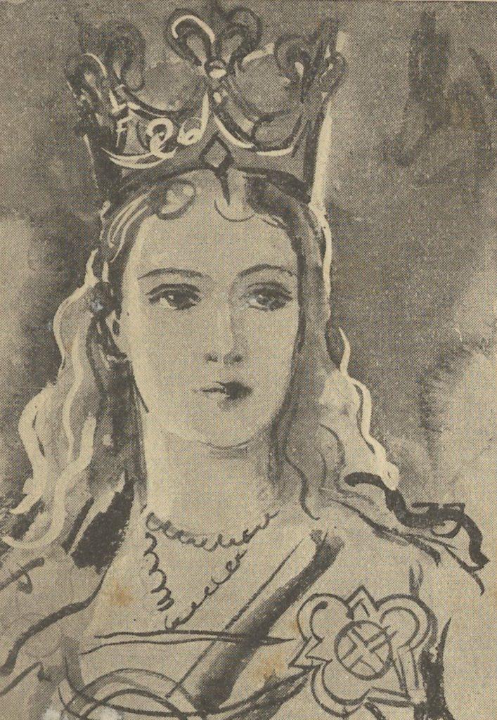 Długosz twierdził, że przed Jadwigą ukrywano śmierć córki (domena publiczna).