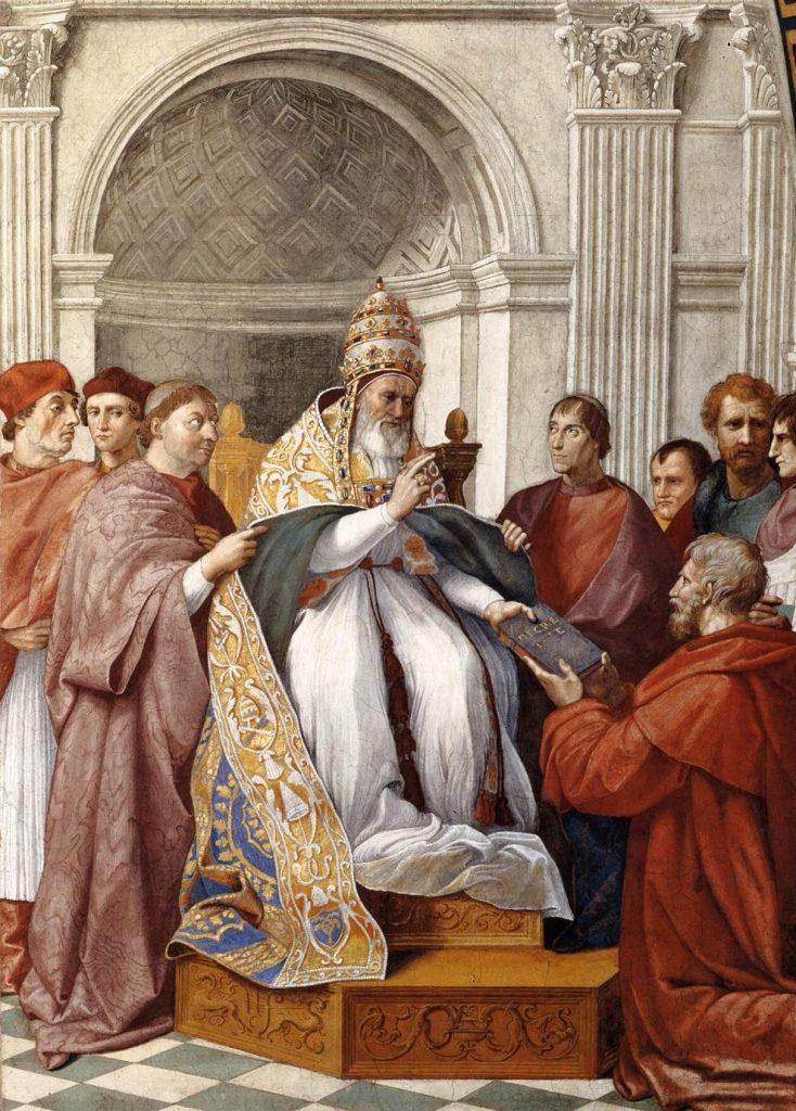 To papież Grzegorz IX uznał, że inkwizycja powinna zająć heretykami (Rafael/domena publiczna).