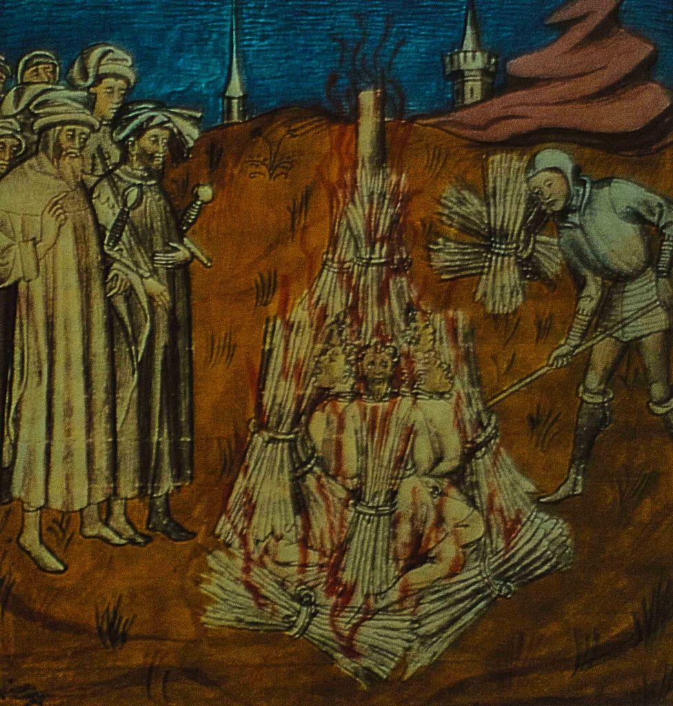 Inkwizytorzy utrzymywali się dzięki majątkom zabranym heretykom (domena publiczna).
