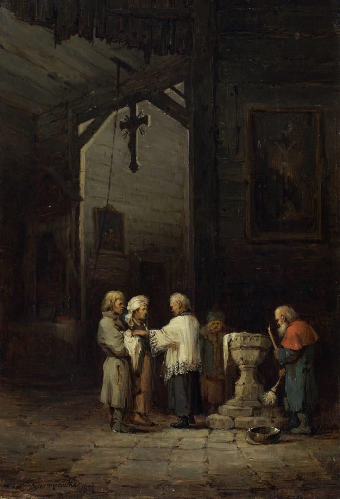 Dużym problemem była również absencja księży w parafiach (Józef Szermentowski/domena publiczna).