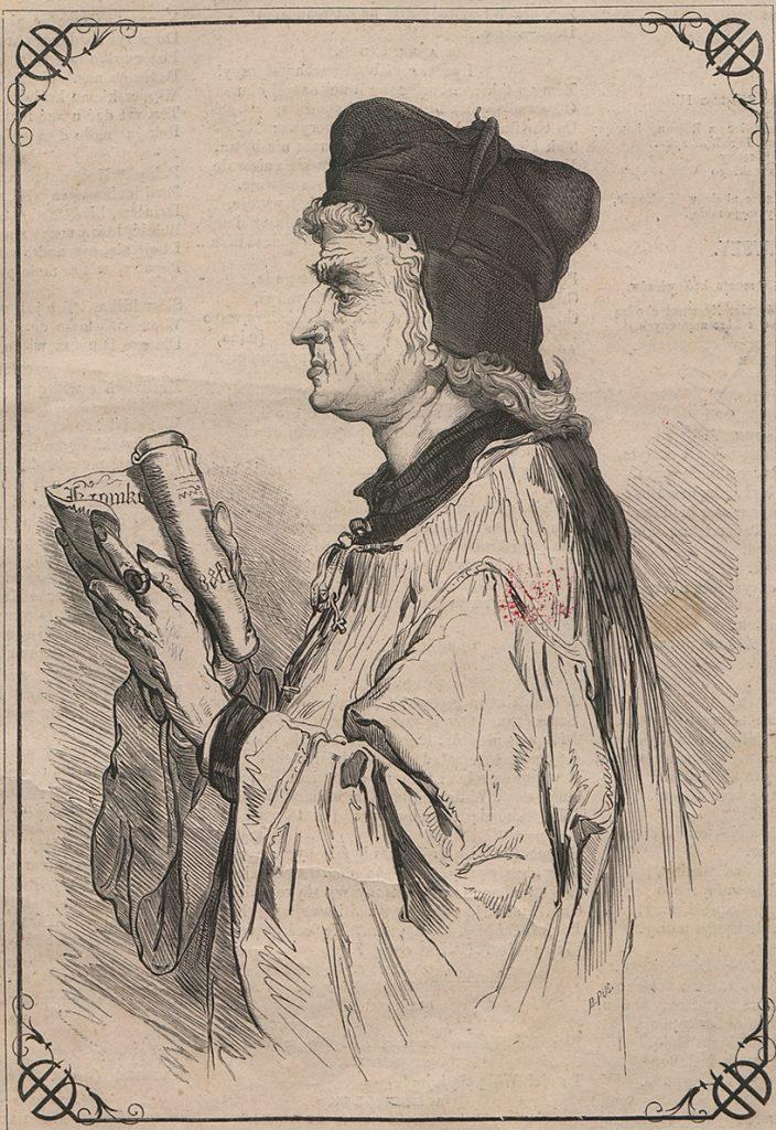 Jan Długosz w wyobrażeniu Jana Matejki.