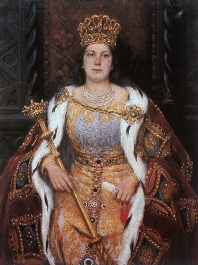 Królowa Jadwiga w wyobrażeniu Aleksandra Augustynowicza.