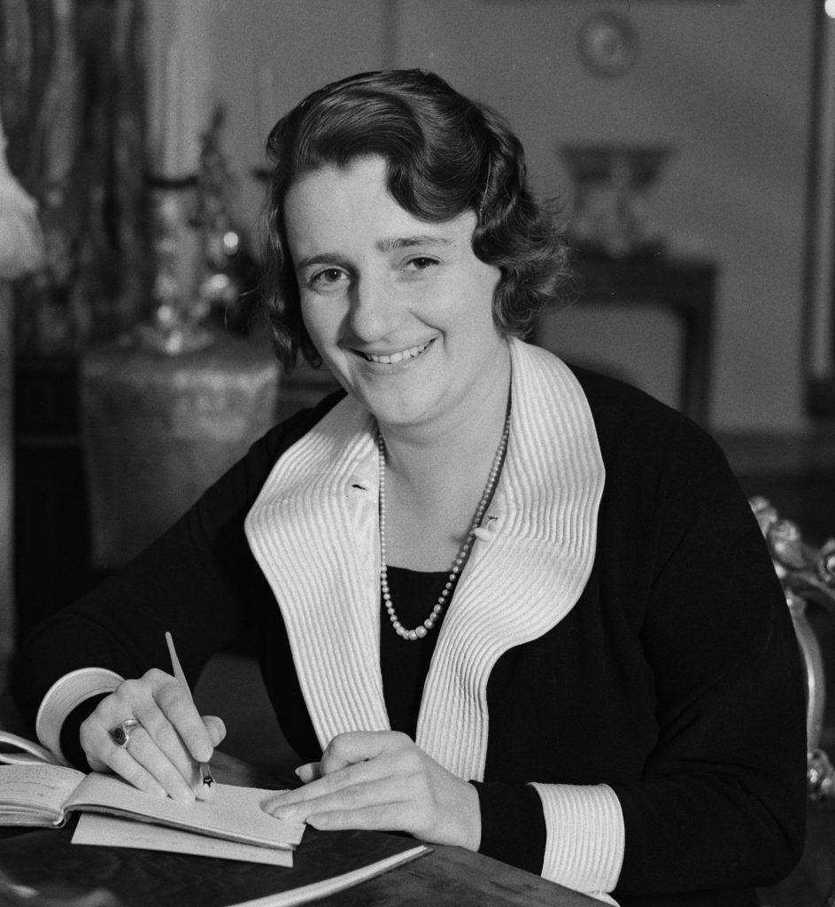 Maria Mościcka na zdjęciu z 1934 roku (Willem Van de Poll/CC BY-SA 4.0).