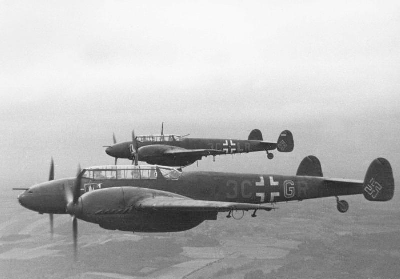 Messerschmitt Bf 110. Maszynę takiego typu zestrzelił Paszkiewicz (Bundesarchiv/W. Wanderer/CC-BY-SA 3.0).