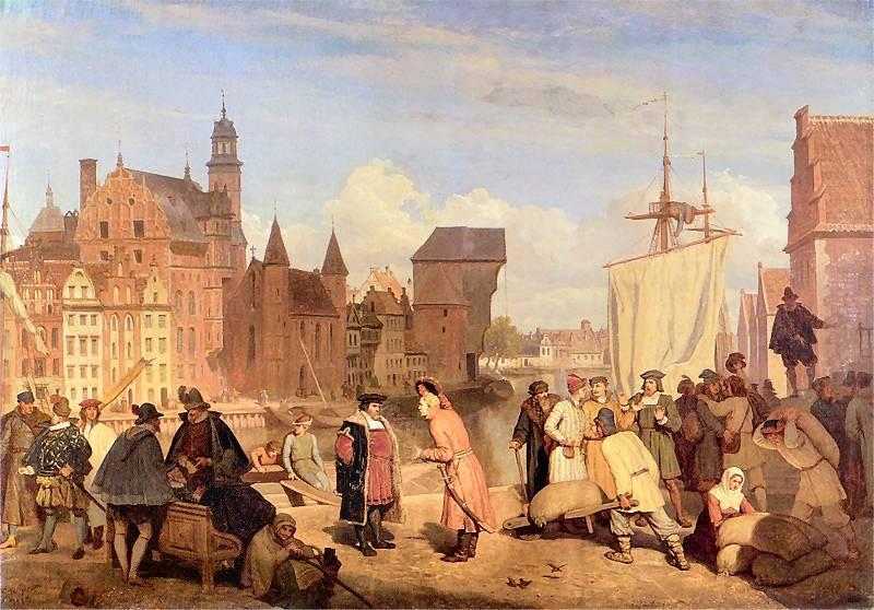 Między innymi w wyniku utraty Gdańska wpływy z ceł drastycznie spadły (Wojciech Gerson/domena publiczna).