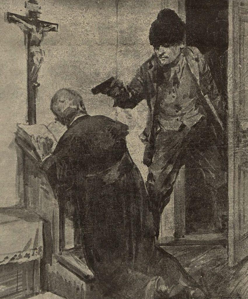Nawet plebanie bywały celem napadów. Ilustracja poglądowa (domena publiczna).