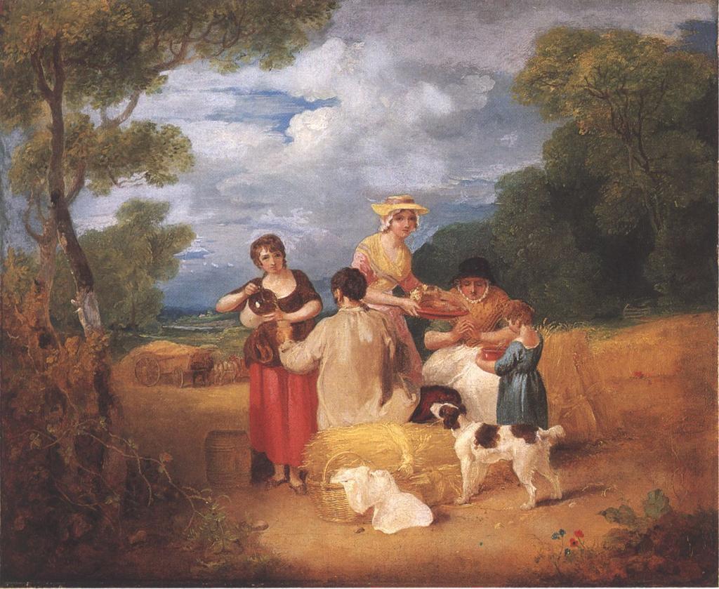 Pod koniec XVIII wieku aż 35% angielskich dzieci zostało poczętych przed ślubem (Francis Wheatley/domena publiczna).
