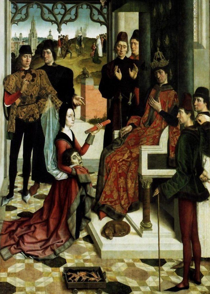 XV-wieczne przedstawienie próby żelaza (Dirk Bouts/domena publiczna).
