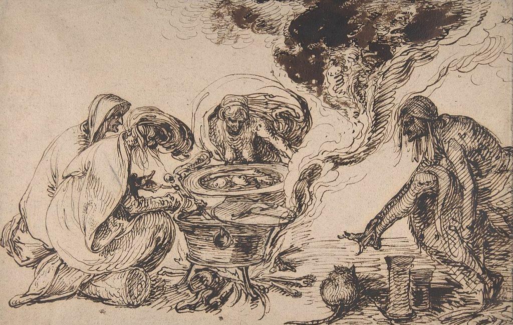 W Polsce już w drugiej połowie XV wieku wydawano wyroki za rzekome czarty. Na ilustracji już nowożytne wyobrażenie sabatu czarownic (Jacques de Gheyn II/domena publiczna).