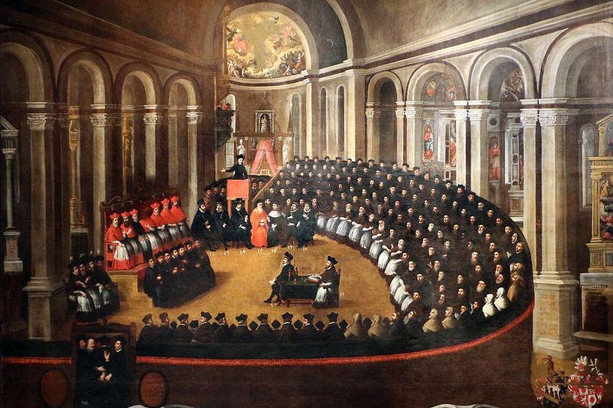 Dopiero na soborze trydenckim zdecydowano, że w każdym kościele ma stać konfesjonał i by spowiedź była prowadzona indywidualnie (Elia Naurizio/domena publiczna).