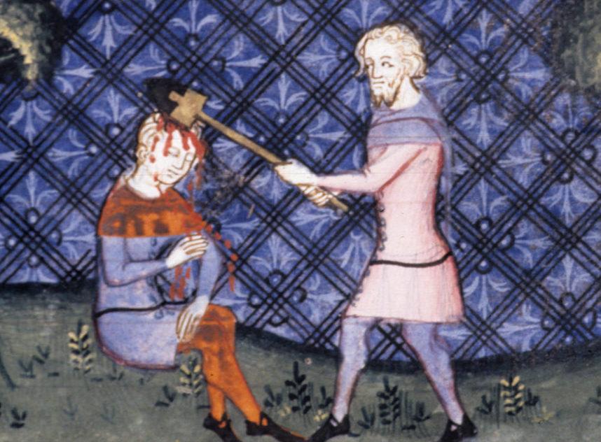 Średniowieczni mordercy często unikali kary śmierci. Wystarczyło, że dogadali się z rodziną ofiary i wypłacili jej stosowne odszkodowanie (domena publiczna).