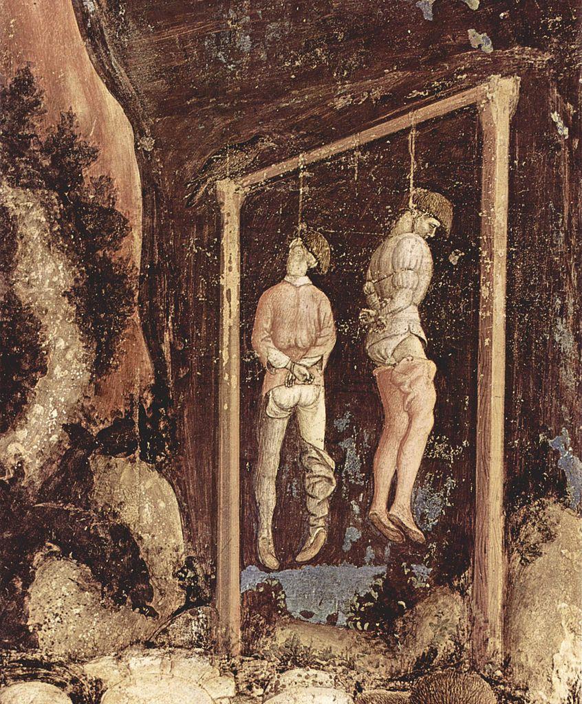 W średniowiecznym Krakowie złodzieje byli nie tylko chłostani, ale trafiali również na szubienicę (Pisanello/domena publiczna).