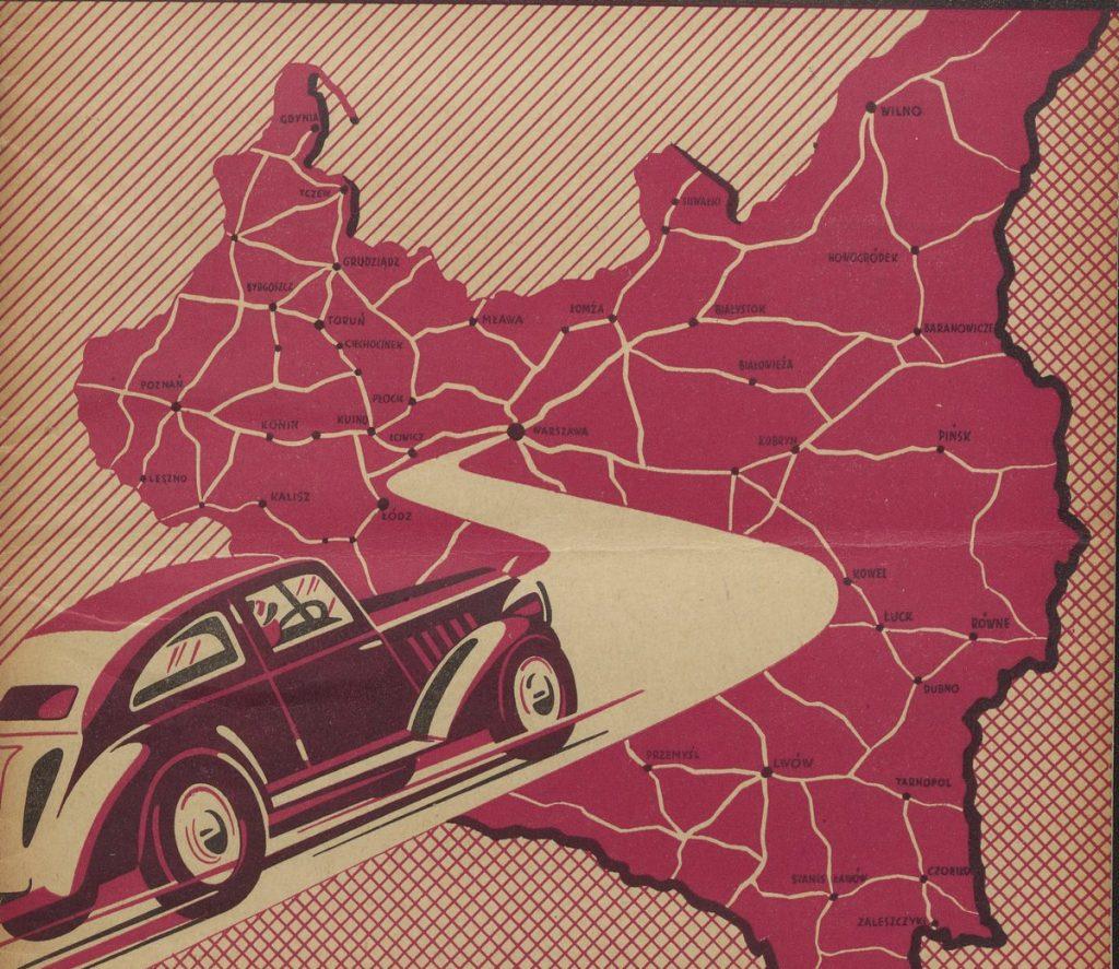 W 1938 roku nad Wisłą przypadał jeden samochód na 1000 mieszkańców (domena publiczna).