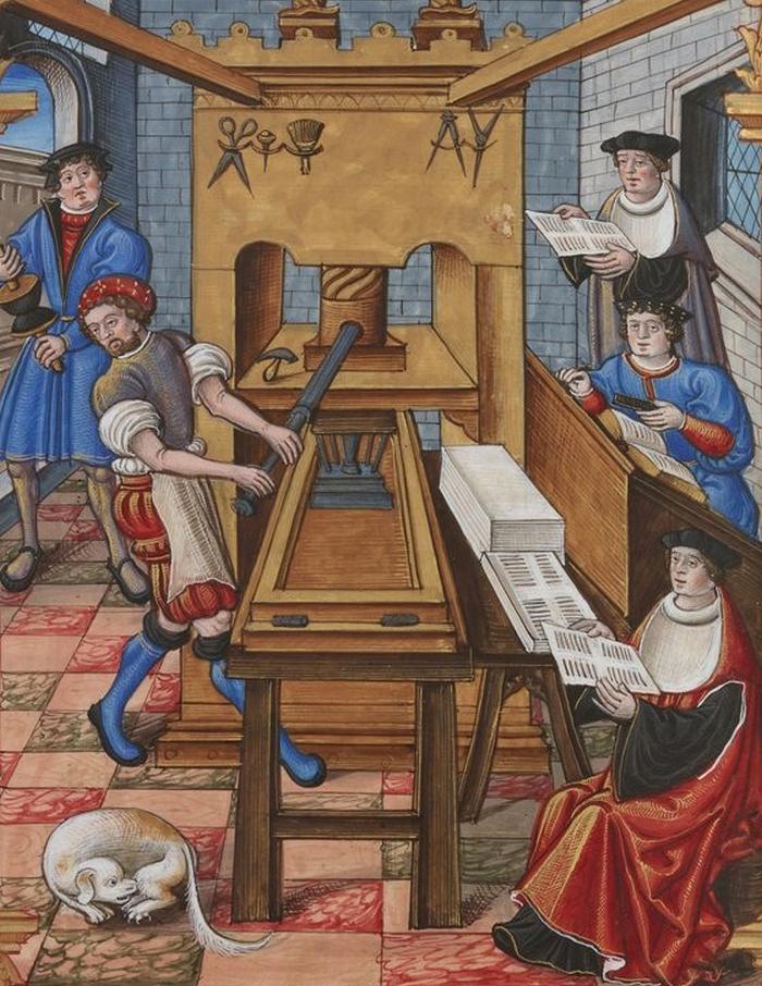 W Polsce do końca XV wieku miano wydrukować tylko 1000 egzemplarzy książek (domena publiczna).