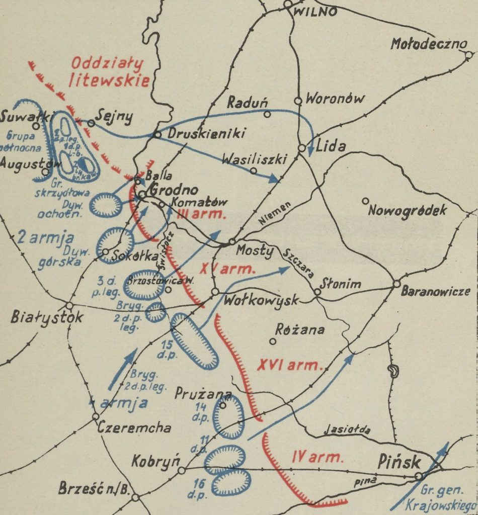 Bitwa nad Niemnem była ostatecznym ciosem dla wojsk Tuchaczewskiego (domena publiczna).