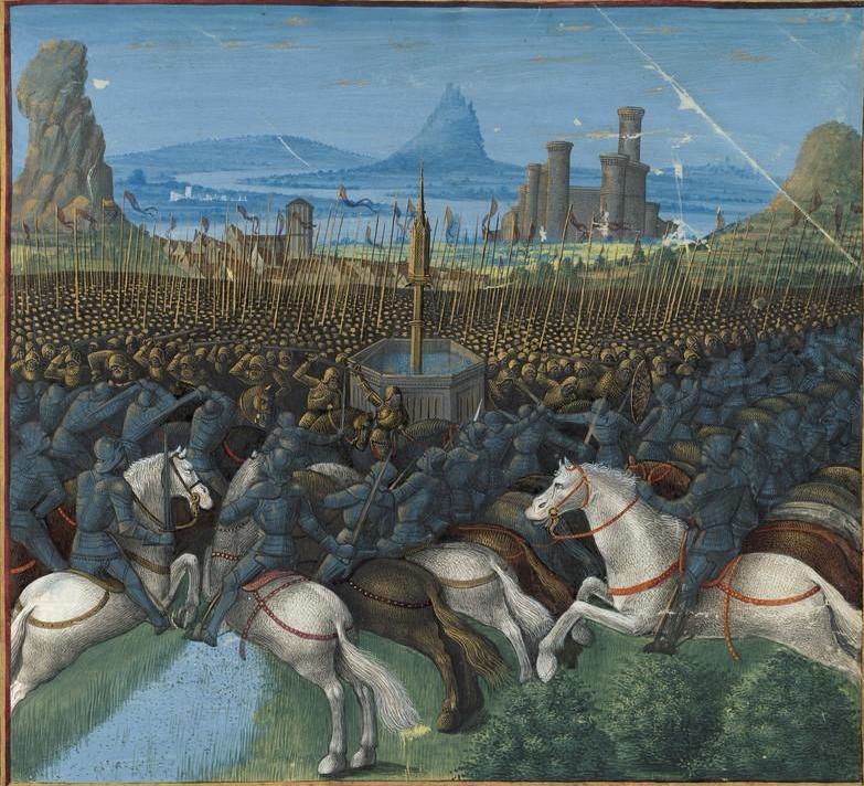 Bitwa u źródła Cresson według Sébastiena Mamerota i Jeana Colombe'a (domena publiczna).