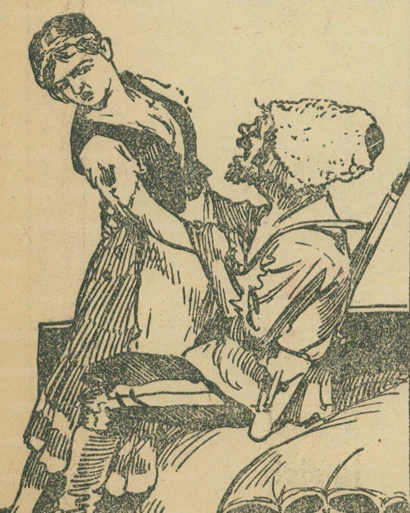 Bolszewicy gwałcili zarówno 10-latki jak i siwe staruszki (domena publiczna).