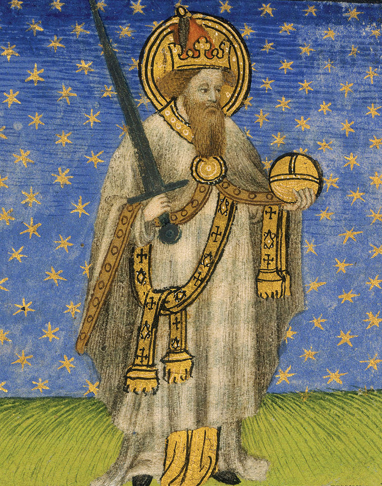 Czy Karol Wielki naprawę miał 184 centymetry, skoro jego kość piszczelowa mierzy 43 centymetry? (domena publiczna).