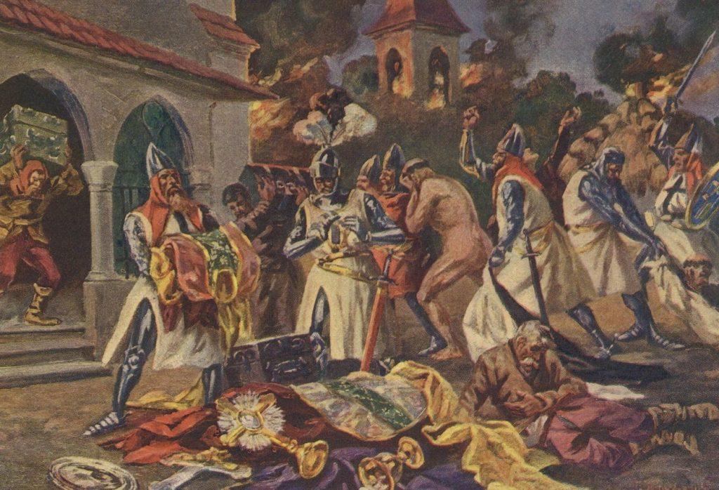 Krzyżacy mordowali, gwałcili i rabowali (domena publiczna).