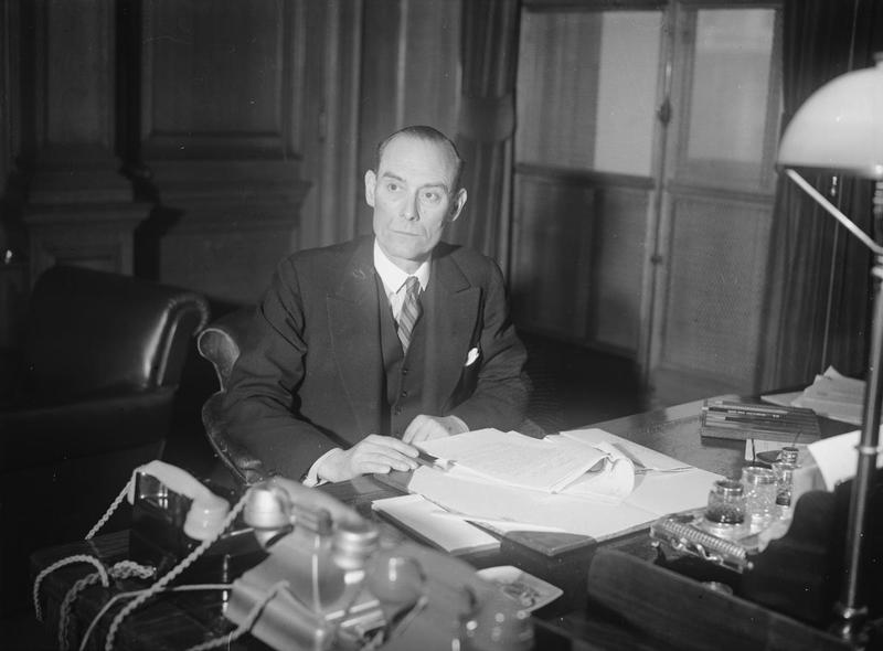 Minister David Margesson na zdjęciu z okresu II wojny światowej (domena publiczna).