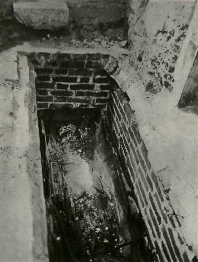 Według XIX-wiecznych obliczeń Zofia Holszańska miała mieć aż 179 centymetrów wzrostu. Na zdjęciu otwarty grób władczyni (domena publiczna).