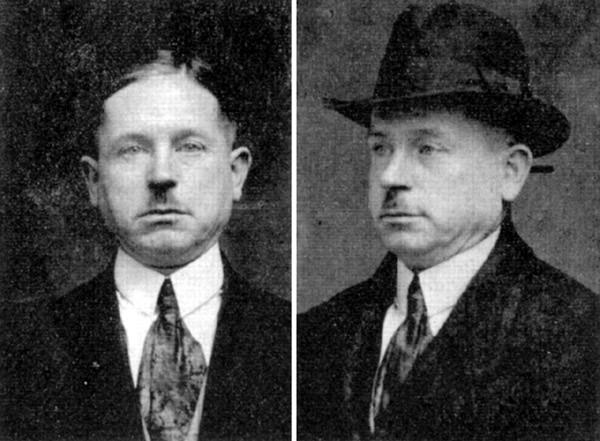 """Peter Kürten czyli """"Wampira z Düsseldorfu"""" na zdjęciu z policyjnej kartoteki (domena publiczna)."""
