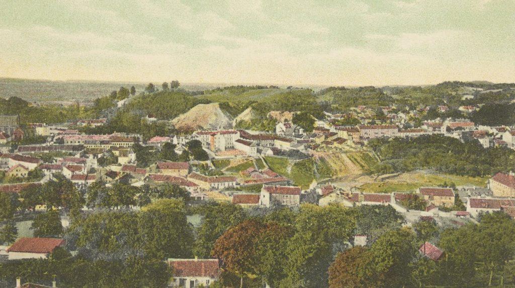 Wilno na pocztówce sprzed 1918 roku (domena publiczna).