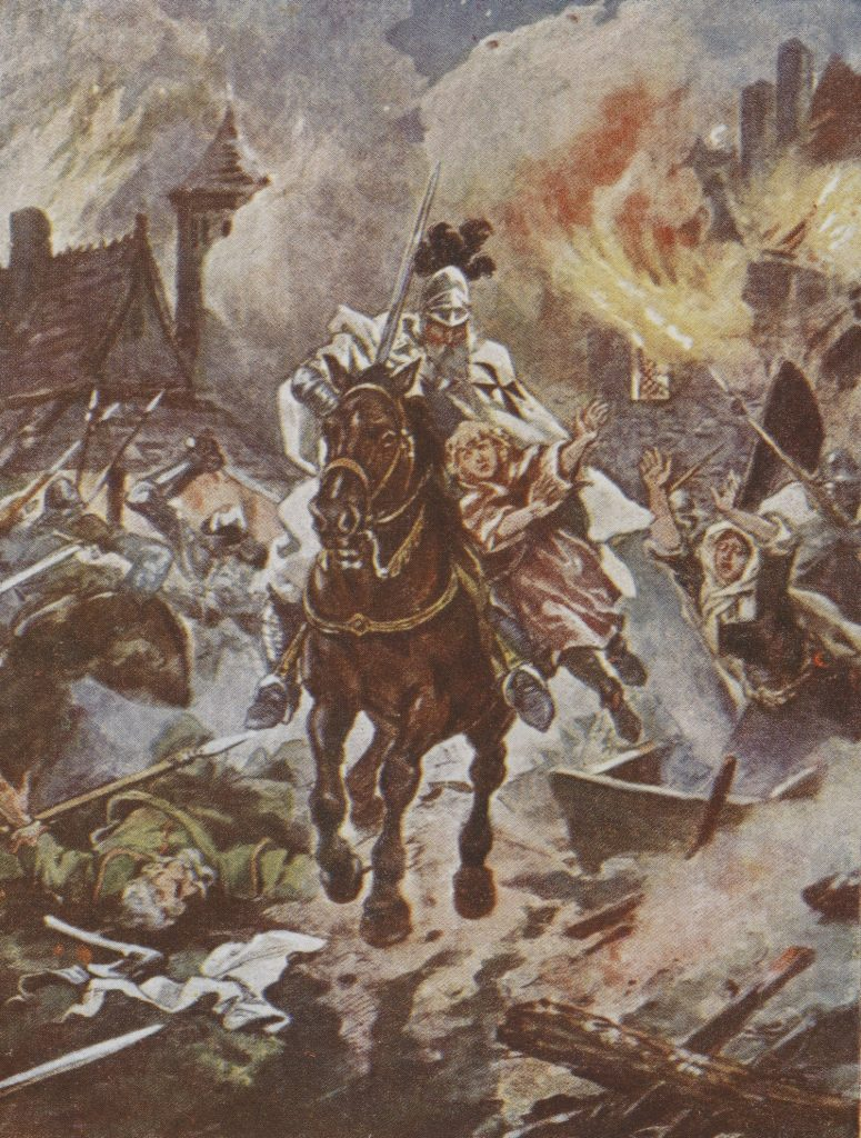 Dla tych, którzy pozostali wierni Jagielle Krzyżacy nie mieli litości (Juliusz Kossak/domena publiczna).