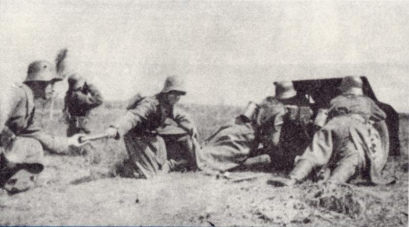 Artyleria 10 Brygady Kawalerii w czasie ćwiczeń. Zdjęcie z 1938 roku  (domena publiczna).
