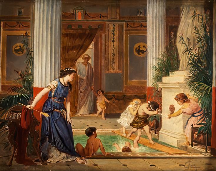 Na prywatne przyłącze wody stać było tylko najbogatszych starożytnych Rzymian (Ettore Forti/domena publiczna).