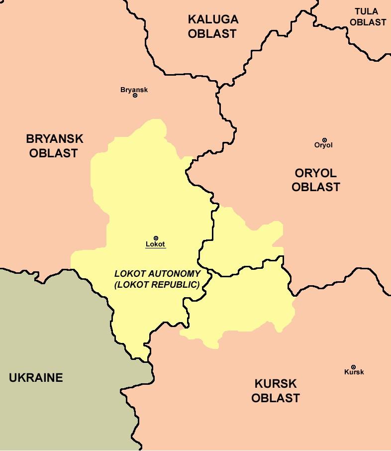 Obszar Republiki Łokockiej nałożony na współczesną mapę Rosji (PANONIAN/domena publiczna).