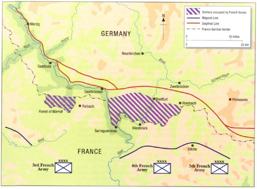 Rozlokowanie francuskich sił biorących udział we wrześniowej ofensywie (Arderiu/CC BY-SA 3.0).
