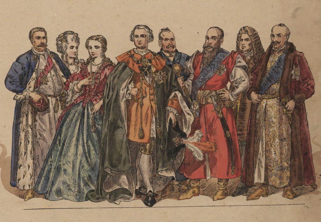 U schyłku istnienina Rzeczposplitej Obojga Narodów madnaci potrafili swoim potomkom nadawać nawet dziesięć imion (Jan Matejko/domena publiczna).