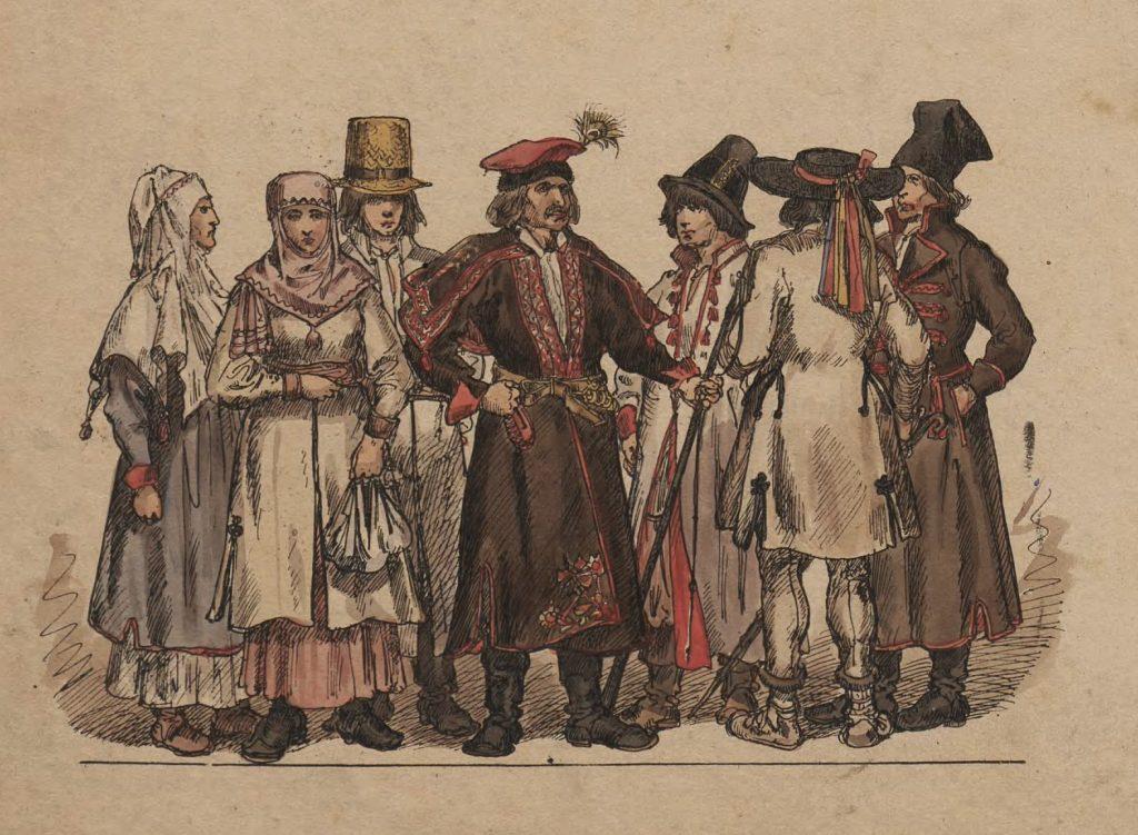 W czasach saskich nawet wśród zamożnych chłopów zaczęto nadawać dzieciom dwa imiona (Jan Matejko/domena publiczna).