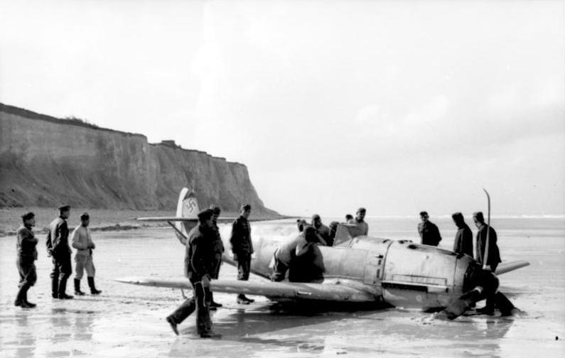W trakcie swojego debiutu w bitwie o Anglię piloci Dywizjonu 303 zestrzelili aż 6 messerschmittów Bf 109. Zdjęcie poglądowe (domena publiczna).