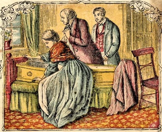 Z biegiem czasu stosunek do zjadaczy grzechów ulegał zmianie. Ilustracja poglądowa (domena publiczna).