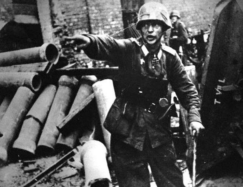 Brak elementu zaskoczenia sprawił, że Niemcy szybko przejęli inicjatywę (domena publiczna).