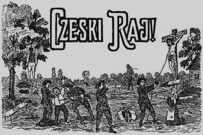 Antyczeska ulotka, najprawdopodobniej z okresu planowanego plebiscytu na Śląsku Cieszyńskim (domena publiczna).