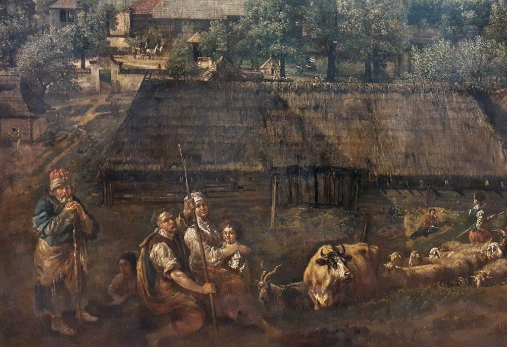 Katarzyna przyszła na świat w ubogiej chłopskiej rodzinie. Ilustracja poglądowa (Canaletto/domena publiczna).