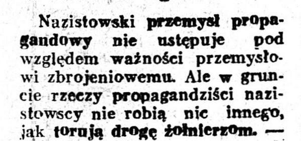 Początek jedenego z tysięcy przedwojennych artykułów, w którym pisano o nazistach. Ten pochodzi z 1938 roku (domena publiczna).