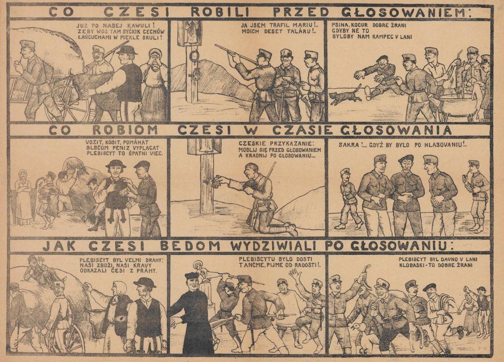 Polska ulotka propagandowa z 1919 roku (domena publiczna).