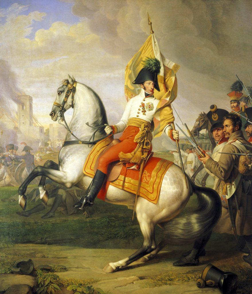 Arcyksiążę Karol w czasie bitwy pod Essling (Johann Peter Krafft/domena publiczna).